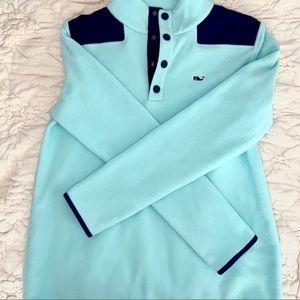 Aqua & Navy Blue Vineyard Vines Shep Shirt